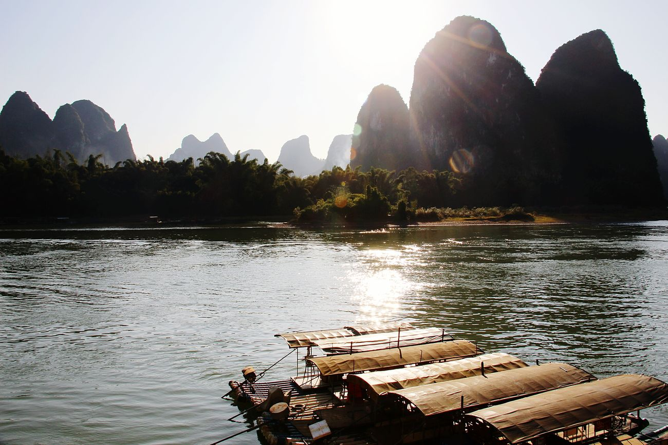 桂林阳朔,漓江。 Guilin Lijiang_yangshuo_china