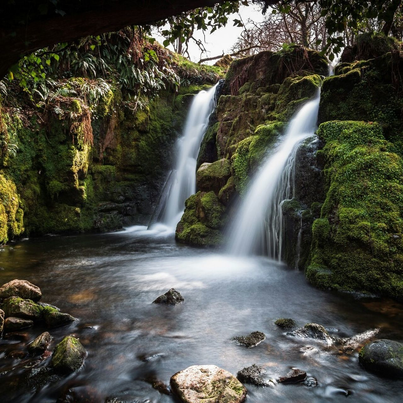 Secret falls Landscape Water Waterfalls Long Exposure Full Frame Rocks And Water Dartmoor National Park Full Frame Capturing Movement Scenics Beauty In Nature Flowing Water