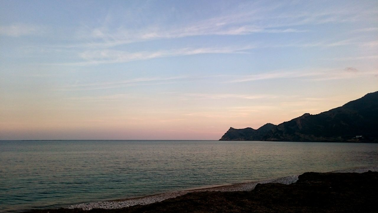 SPAIN Albir Beach Low Sun Sea Sea And Sky Pink Sky Great View Amazing Earth Beautif Nature Peaceful View