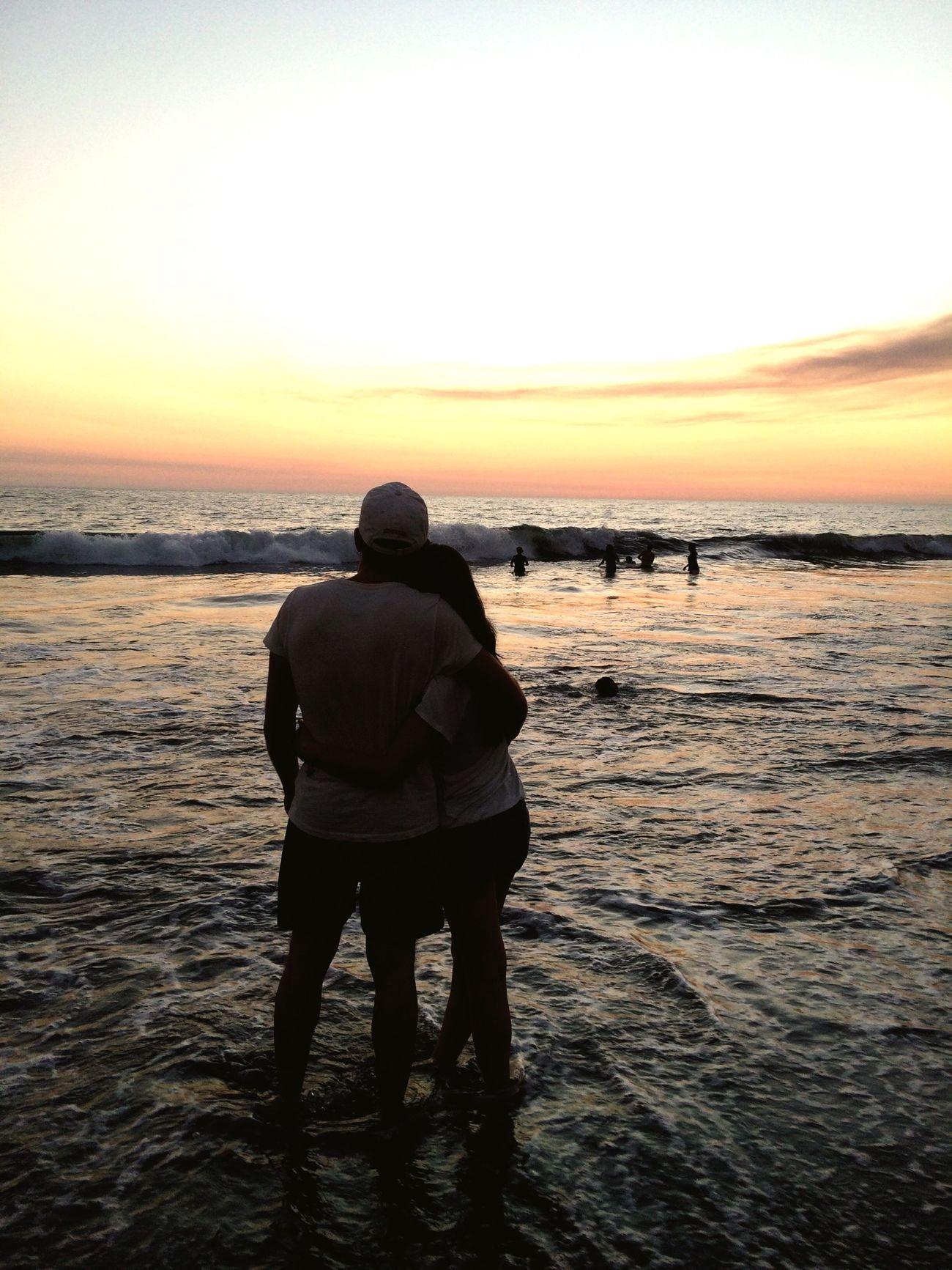 Portrait Of A Friend Enjoying The Sun Sunshine Sea Love♥ Sunset Silhouettes Sunsets Sunsetporn Friends Beachphotography
