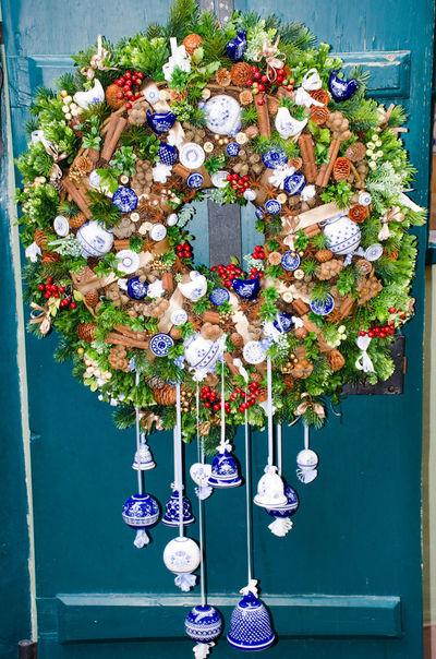 Christmas Garland Hanging up Christmas Garland Xmas Christmas Decoration Christmas Tree Festive Flower Hanging Multi Colored Outdoor