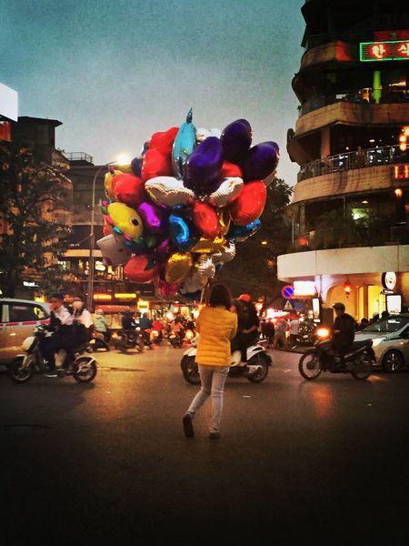 Showcase March Balloons Crazy World Vietnam Hanoi Vietnam  Fly Away
