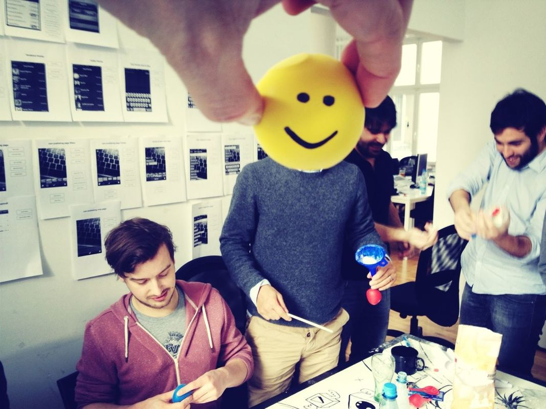 Lunch presentation for today: building a stress ball 101 Always look on the bright side of life by Flo Meissner