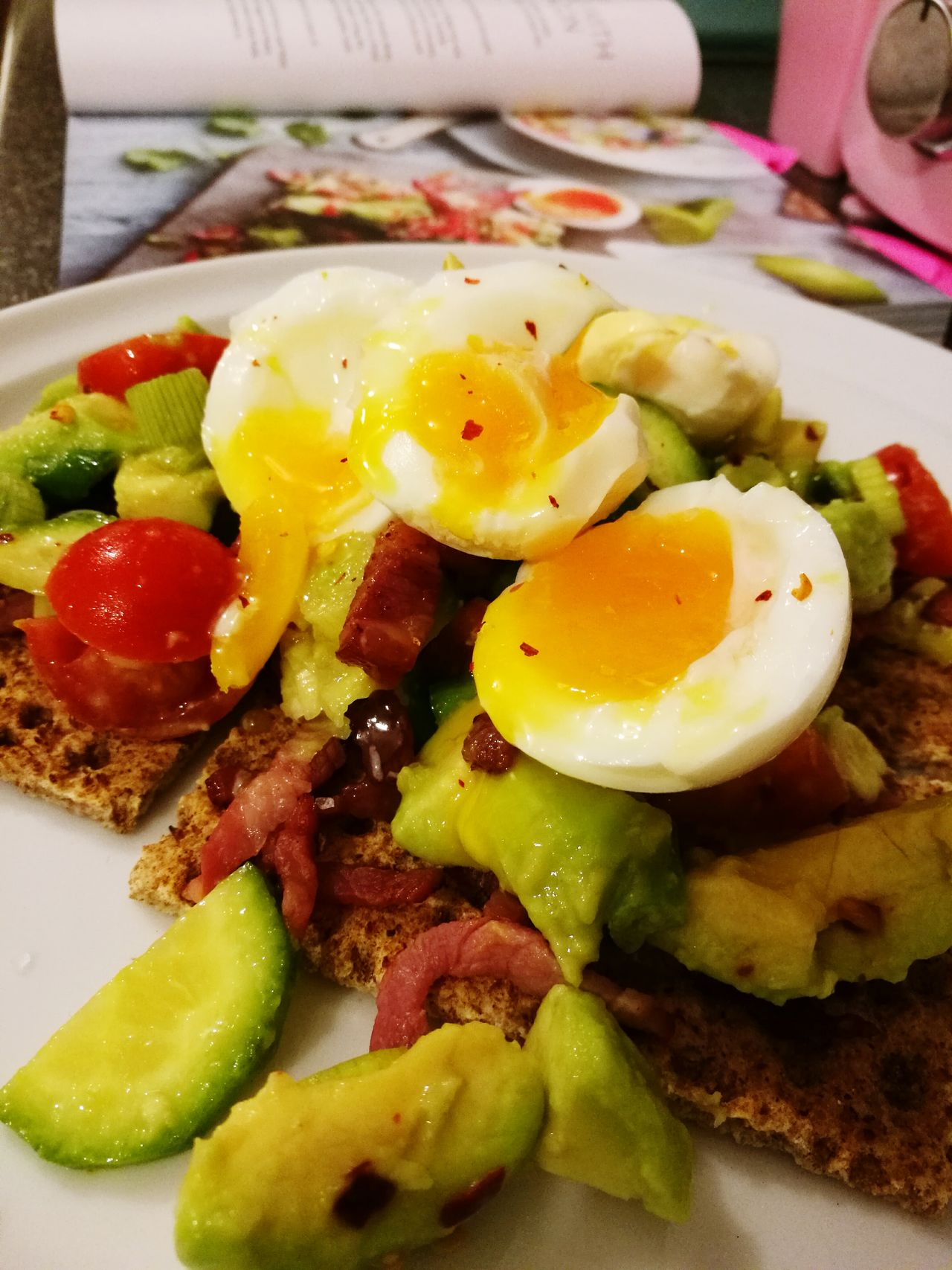Yellow Food Egg Yolk Healthy Eating Close-up No People Indoors  Freshness Ready-to-eat Day Love Cooking Kitchen Its Ready Cucumber Rye Crackers Avacado Bacon Recipe Book Lean Chilli Flakes Spring Onion Tomato Tea Time Family EyeEm Best Shots