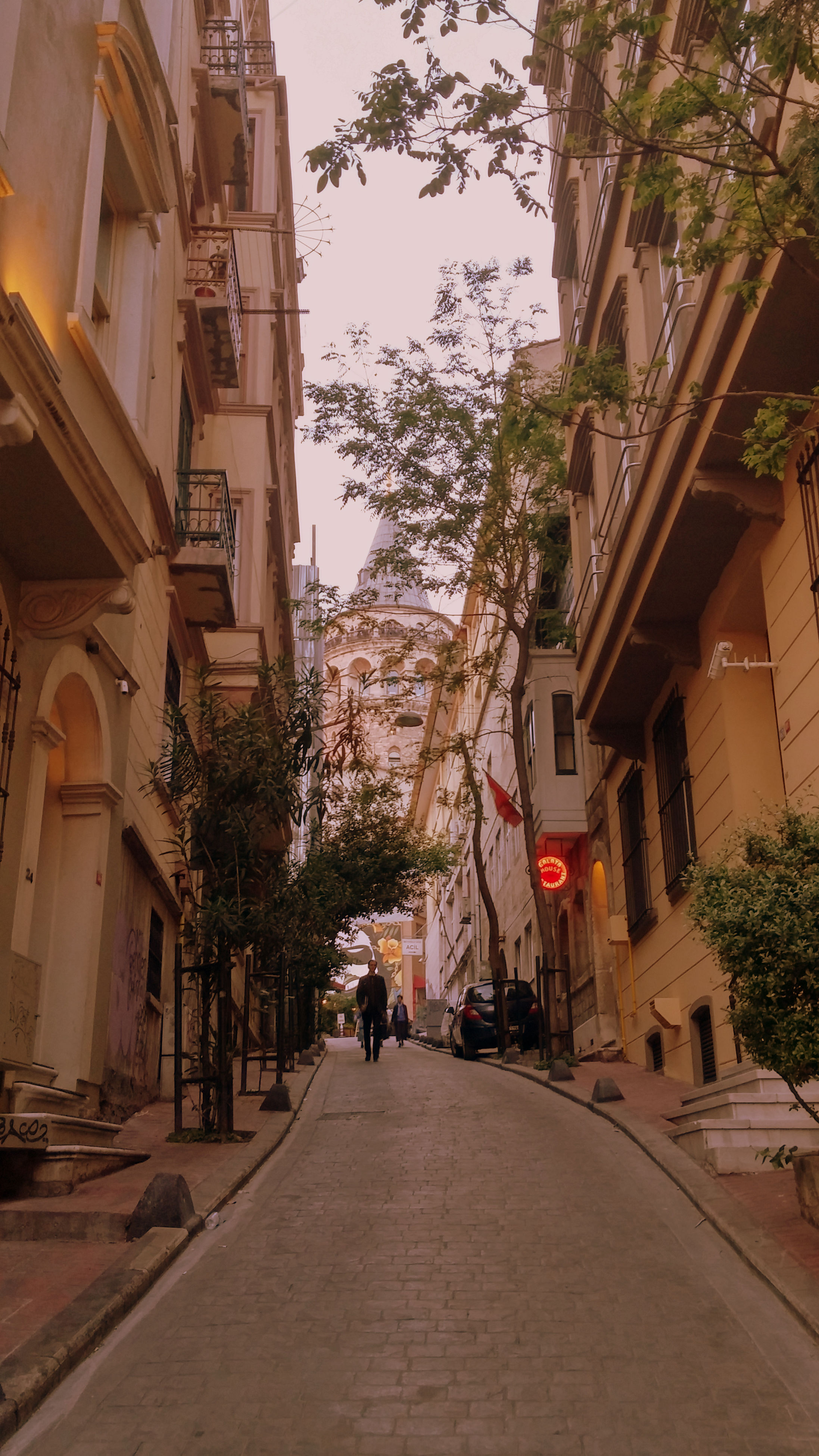 building exterior, architecture, built structure, the way forward, street, tree, diminishing perspective, residential structure, city, alley, residential building, house, road, vanishing point, incidental people, walking, building, day, transportation