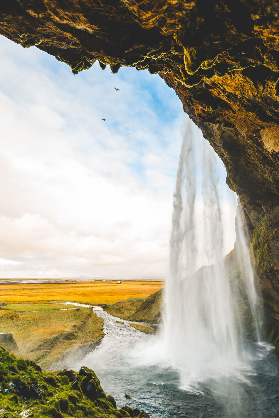 The world is very pretty, if you go see it. Water Nature Beauty In Nature Landscape Sky Scenics No People Nature Reserve Outdoors Day Waterfall Iceland Dreamy Idyllic Environment Showcase: April Full Frame Travel Travel Photography Europe Travel Destinations Cloud - Sky