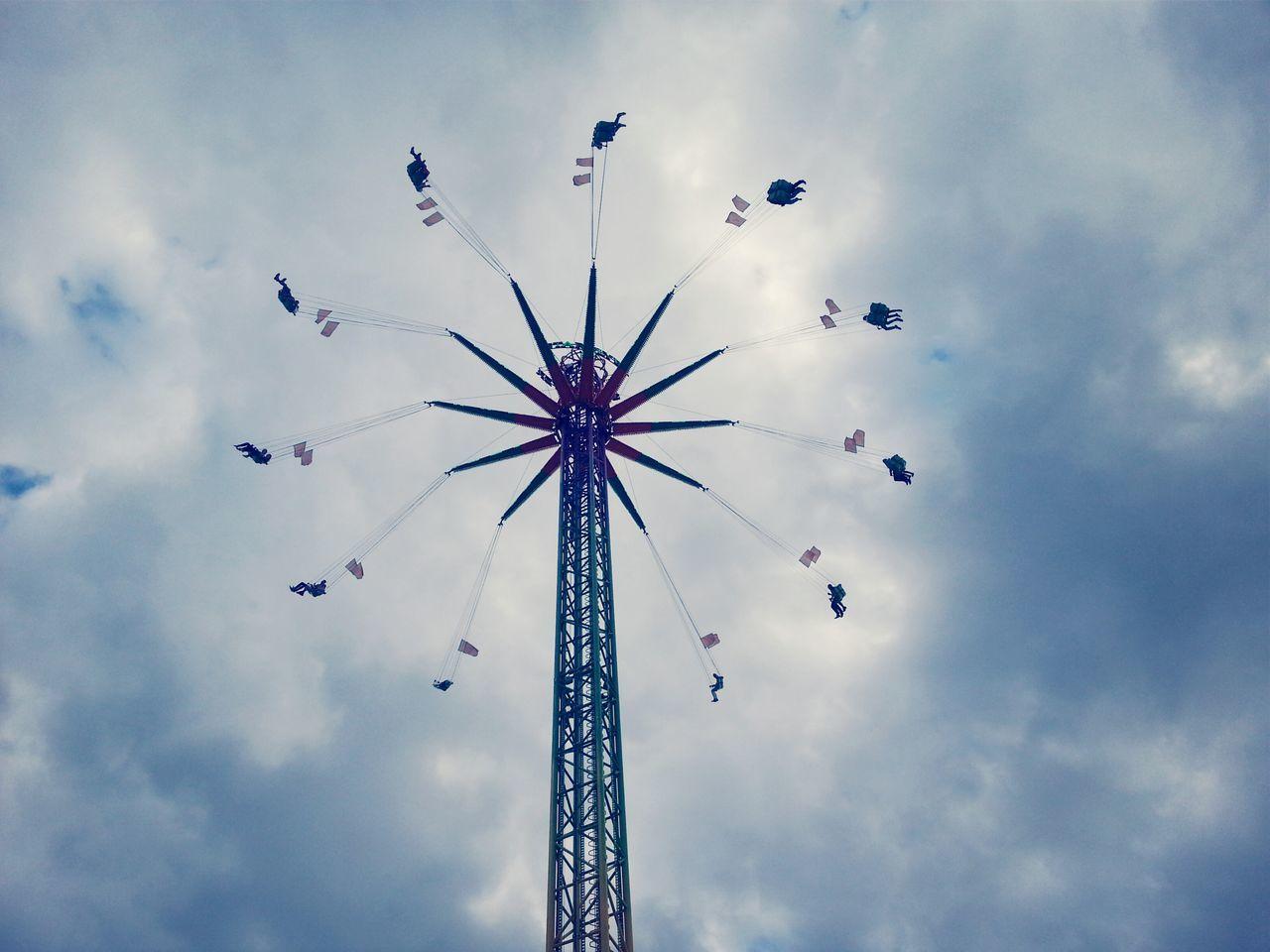 Beautiful stock photos of fun, Amusement Park Ride, Built Structure, Chain Swing Ride, Cloud