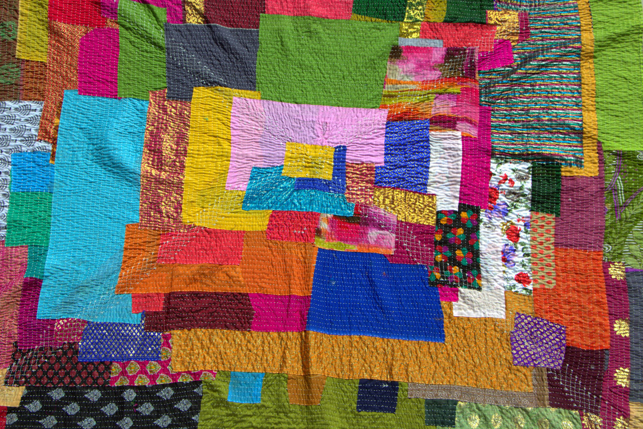 Blanket -Handmade Abstract Bangalore Blanket Blankets Close-up Color Photography Colors Colorsoflife Colorsplash Dailylife Dailylifeindia Dailylifephotography Day Handmade Handmadeitem India Indianblanket Karnakata Multi Colored No People Outdoors Pattern Stiched Variation