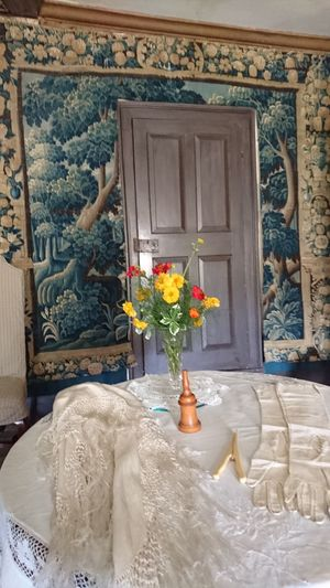 Door Flower Window Doorway Vase No People Day Architecture Rustic Indoors  Furniture House Stately Home History Old Buildings Historical Building Tapestry Door Flower