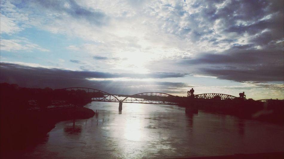 Bridge Water. Sunrays October.