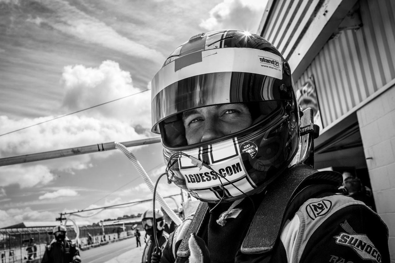 Academy Motorspor British Gt Colour Day Headshot Headwear Helmet Matt Nicoll Jones One Person Pit Lane Racing Silverstone Sky
