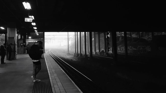 Foggy Morning | Daily Commute | Black And White Notes From The Underground
