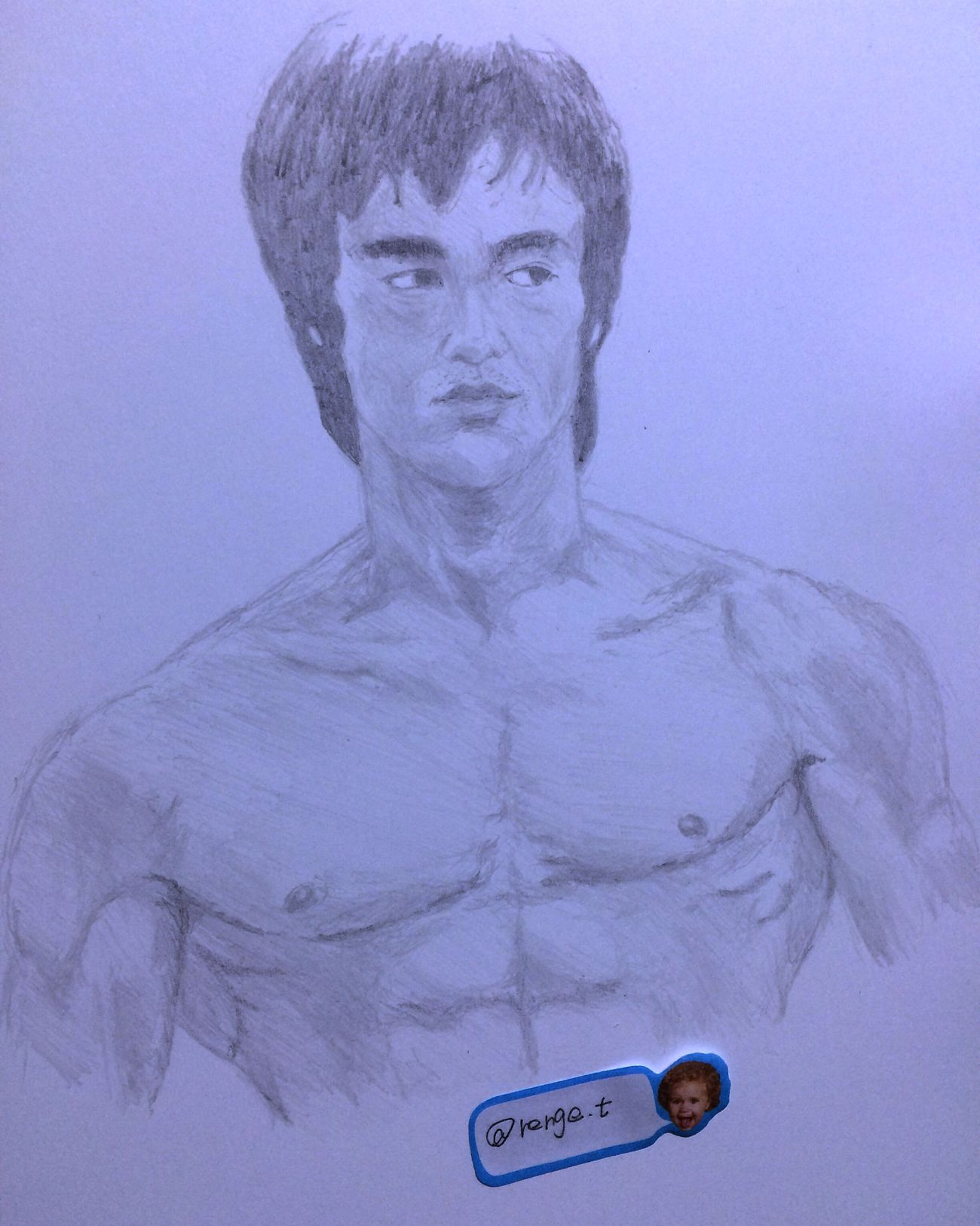 Drawing ArtWork Hello World Art, Drawing, Creativity Brucelee Bruce Lee 李小龙 ブルースリー