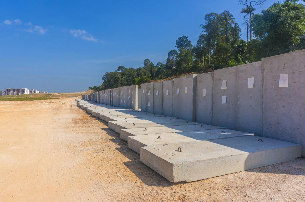 Concrete Construction Construction Site Drain Drainage Faster Method Outdoors Panel Precast Concrete Precast Panel