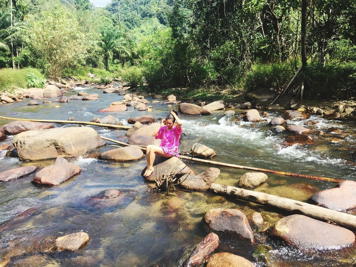 Water Tree Stream - Flowing Water Full Length Nature Forest River Outdoors Childhood Day One Person Beauty In Nature People Phangnga Thailand Traveling Rock Leaf Scenics Waterfall Women Live For The Story