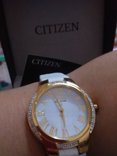 So blessed! Late Christmas Gift. Better Late Than Never Citizen Ecodrive Leather Watch Happy Kiddo :)