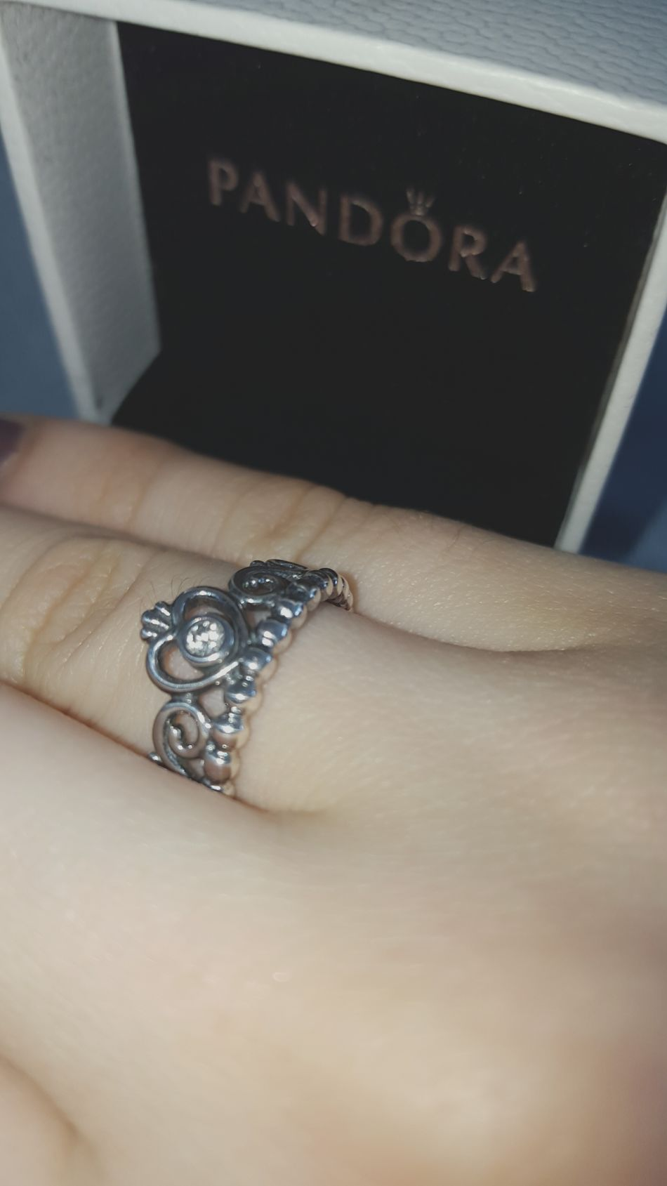 finally i get it thank you mom ❤ Ring Pandora Princess Pandora Ring Princess Ring For My 16th Bday ~9 Months Later So Happy Thank You Thank You ❤ she buys me it today for my 16th bday, it was ~ 9 months ago but idkw we buy it today ...