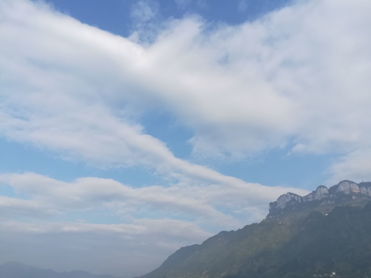 cloud - sky, sky, nature, beauty in nature, tranquility, scenics, low angle view, tranquil scene, outdoors, mountain, day, no people