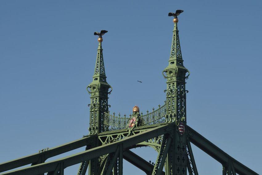 Budapest Hungary Szabadság Híd Outdoors Sky