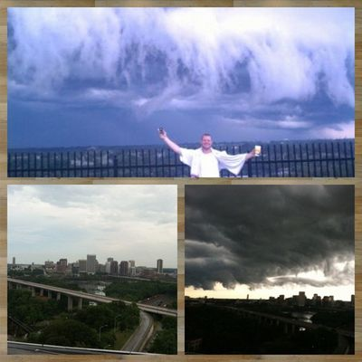 Picframe Rooftop river towers. Cray AllMine I put on for ? rva