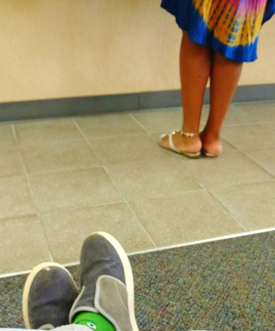 Color vs Grey Taking Photos Floors At The Doctor Colorful Creating Looking To See Sneaky Pretty Dress Green Socks