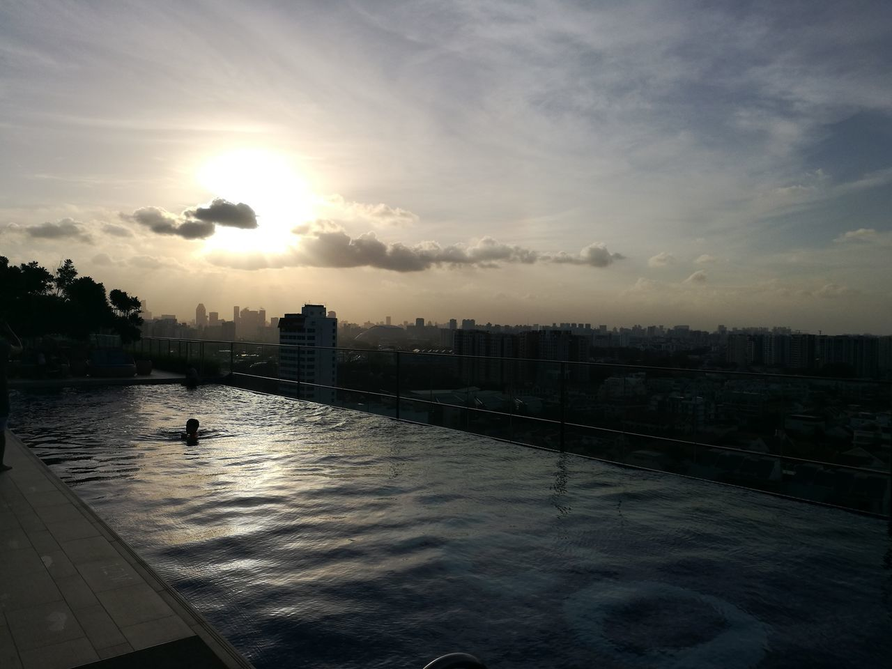 Water Sunlight Wet Sunset Social Issues Cloud - Sky Outdoors Nature Sky No People Day Hotelindigo Katong Rooftop Rooftoppool sunset #sun #clouds #skylovers #sky #nature #beautifulinnature #naturalbeauty photography landscape Sunsets