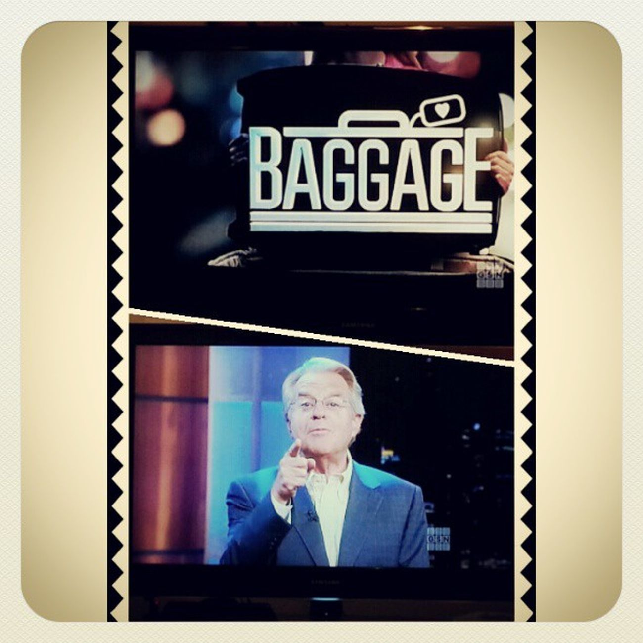 My friday night GSN GAMESHOWNETWORK JerrySpringer Lovethisshow BAGGAGE NEWSHOW FRIDAYNIGHT