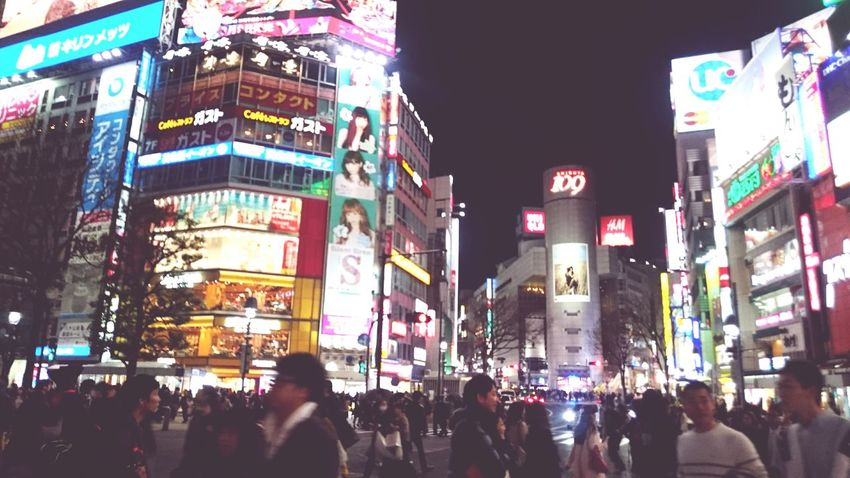 Cities At Night Bustling City of Tokyo Shibuya Shibuya Crossing Shibuya 109 Neon Lights Billboards The Following Feel The Journey Original Experiences The Innovator Ultimate Japan On The Way Foot Traffic People And Places TakeoverContrast