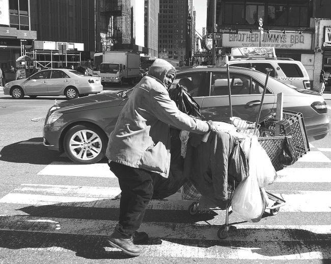 New York Blackandwhite Rich VS Poor Big Apple Hardlife Big City Life Black Man EyeEm City Shots