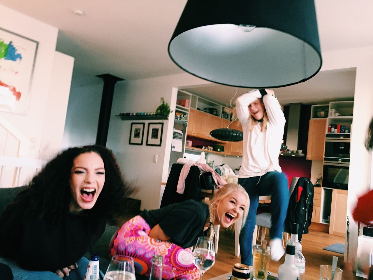 Indoors  Waist Up Young Adult Headshot Communication Variation Young Women Person Casual Clothing Modern Laughter Friendship Laughing Out Loud