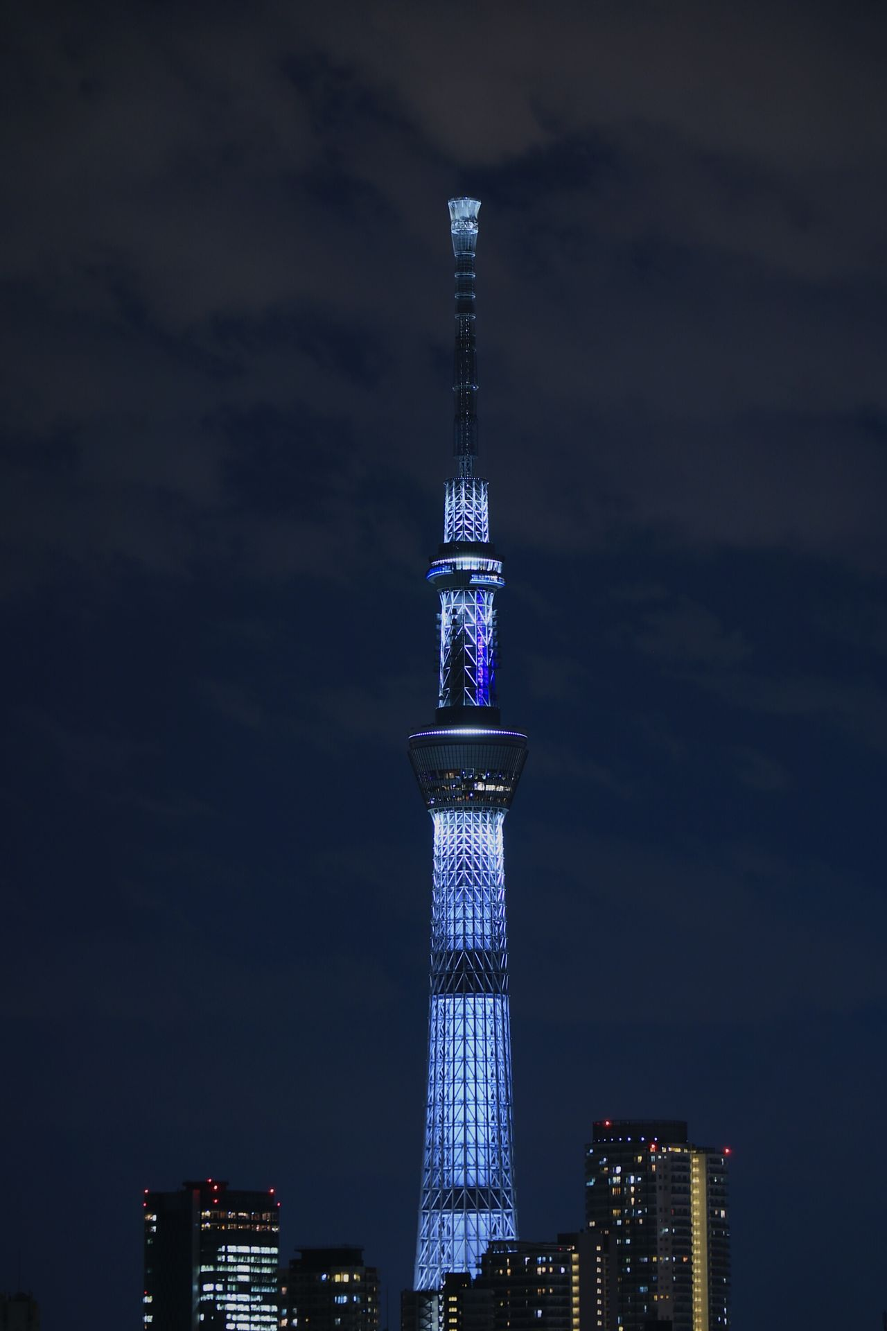 Tower Tall - High Urban Landscape Skyscraper Skytree Tokyoskytree Japan Tokyo Illuminated Nightscape Nightphotography Nightview Night