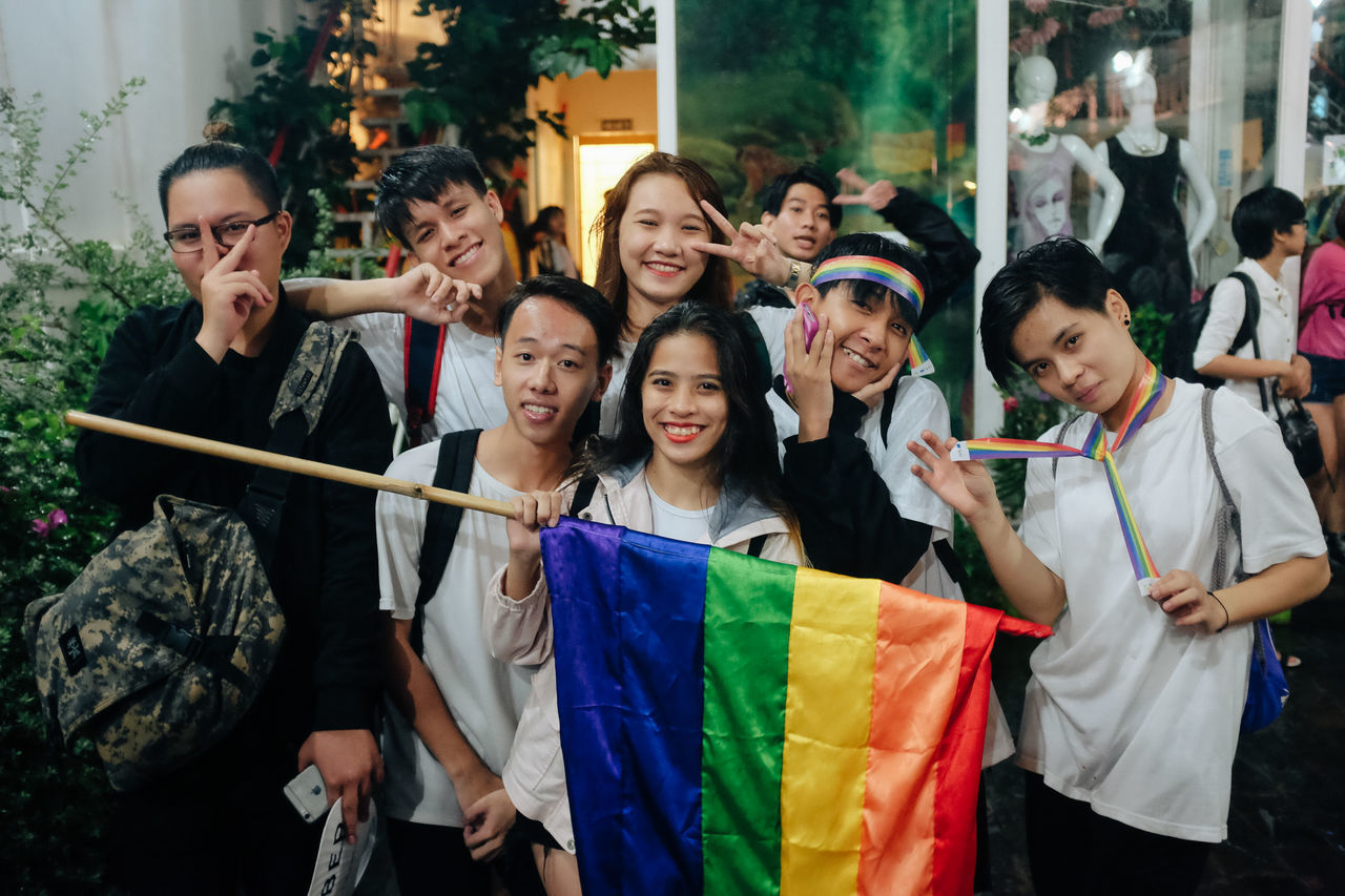 Ho Chi Minh City, Vietnam: Hundreds of young Vietnamese gathered up the celebrate the Viet Pride Saigon 2016 in Nguyen Hue Walking Streer, despite the heavy rain and last minute change. Freedom Gay Pride Lgbt Flag Lgbt Pride Loveislove Lovewins Pride2016 Prideparade Queer Rainbow Rainbow Flag Rainbowflag Saigon Togetherness Viet Pride Vietnamese VietPride Youth Of Today The Photojournalist - 2017 EyeEm Awards Place Of Heart