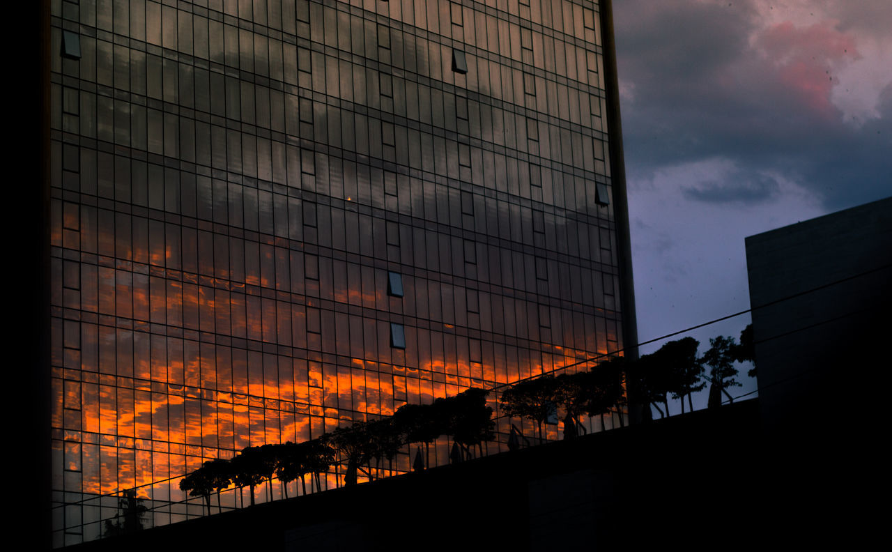 Architectural Column Architecture Architecture Architecture_collection Building Exterior Built Structure Burning Cloud - Sky Day Flame Mirror Modern Nature No People Outdoors Reflection Silhouette Sky Streetphotography Summer Sun Sunlight Sunset Sunset Silhouettes Sunset_collection