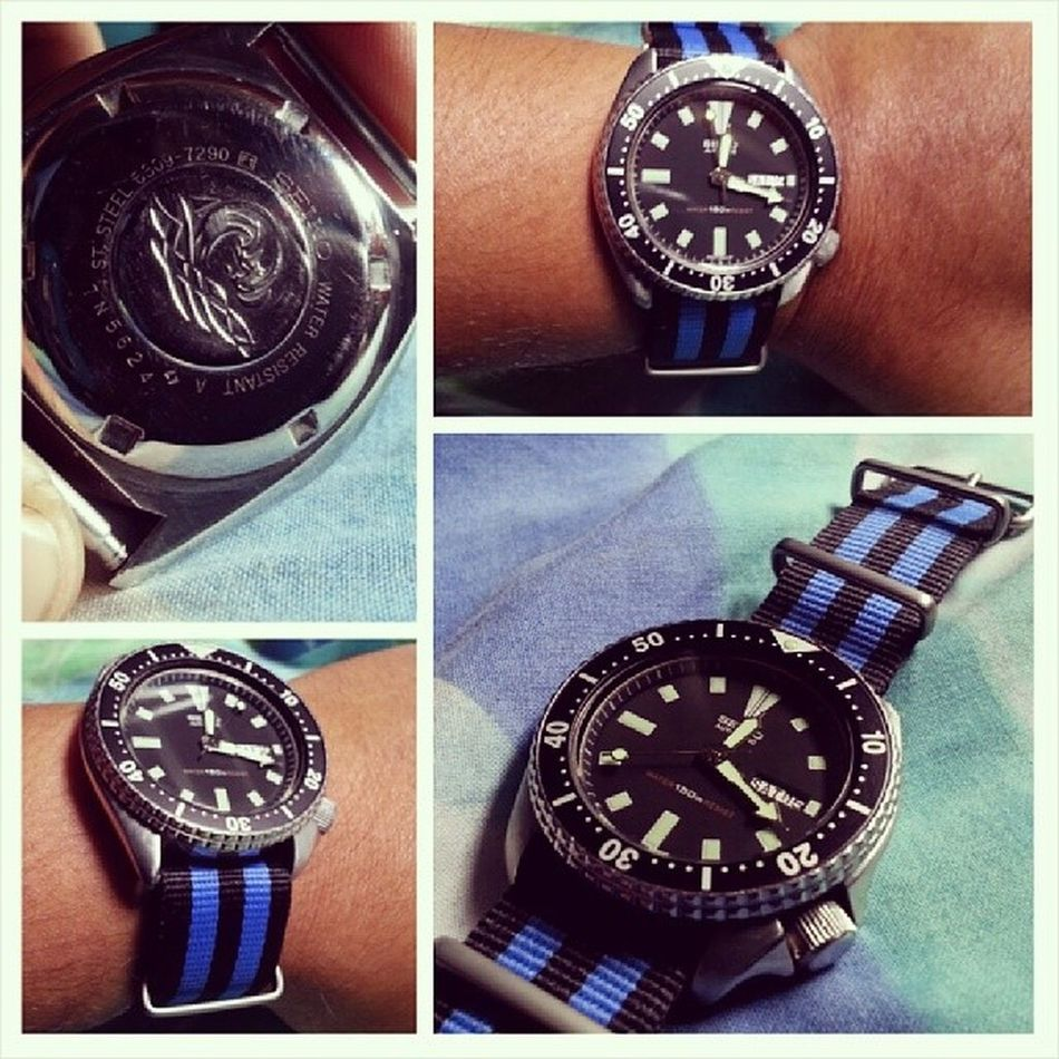 Its here!!! Its finally here!!! My first Vintage Seiko !!! 6309 With Natostrap and fat springbars!! Oh yesss...