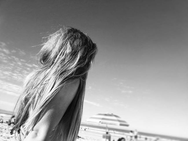 Too often we forget to breathe .. AtPeace LivingLife Atthebeach Ocean Sand Hair Cousin Blackandwhite Bestfriend