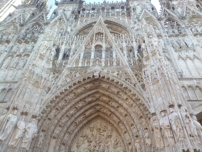 Porte d'entrée de la cathédrale de Rouen France