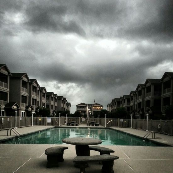 One of my favorite pics that I've done. Wildwood Nj Poolside Poolsideview Storm Clouds Stormy Weather Poolarea Badweathercoming Eyembestshots EyeEm Best Edits Eye Em Around The World