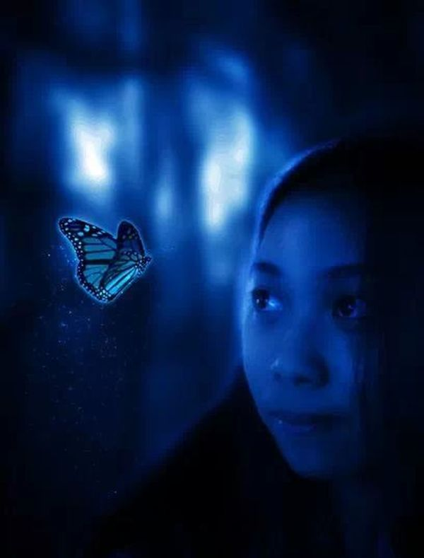 Photomanipulation credit for my brother Butterfly Selfportrait Selfie