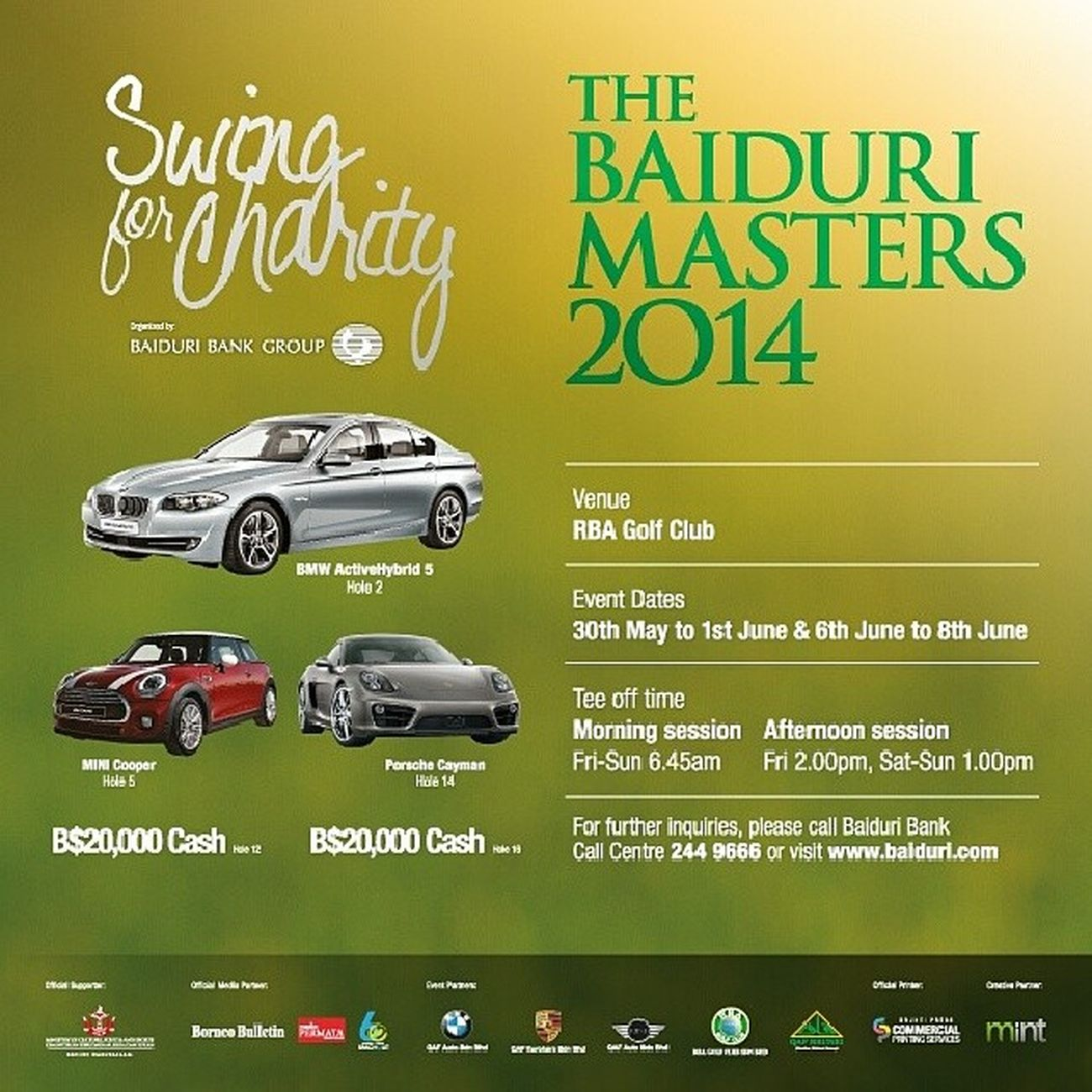 Details on the Baidurimasters2014 will be up on www.baiduri.com soon! Stay tuned! Baiduribank Baiduricsr Brunei HappeningsBN