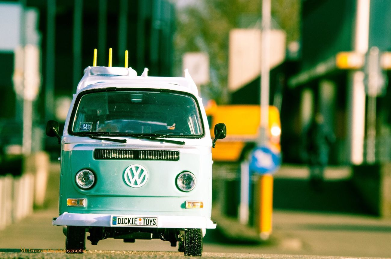 Volkswagenbus Toyphotography Ontheroad Retro Styled Vwtransporter