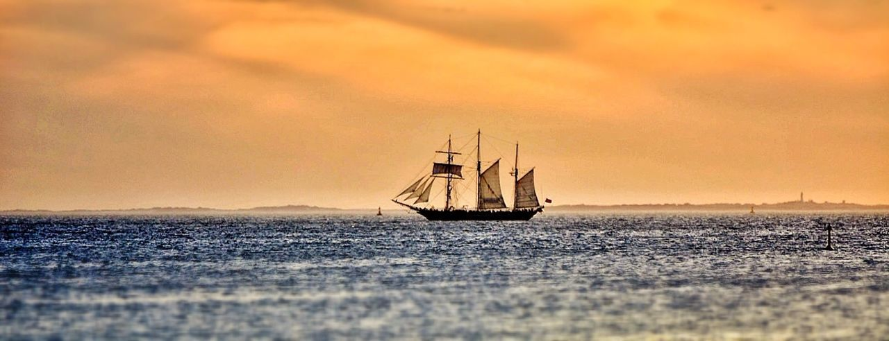 sunset, transportation, mode of transport, scenics, nautical vessel, sky, tranquility, nature, tranquil scene, beauty in nature, no people, sea, outdoors, water, cloud - sky, sailing, horizon over water, day
