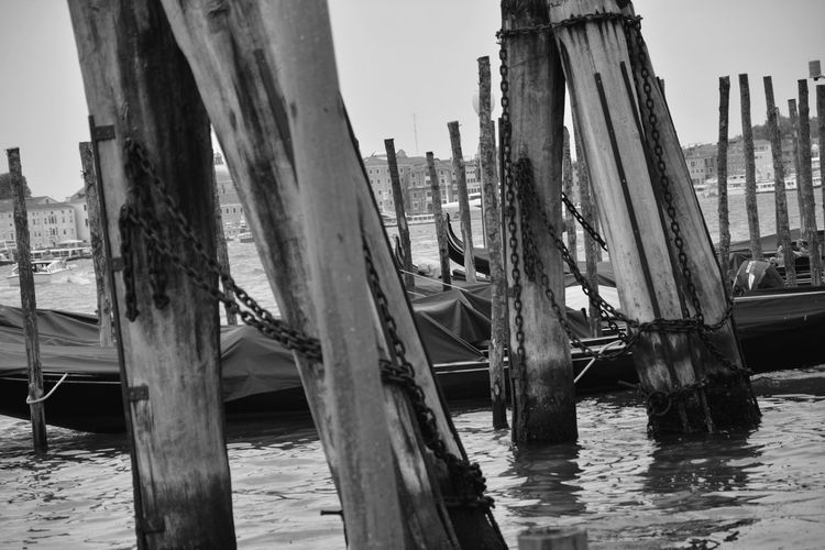 Water Nautical Vessel Outdoors Day Beach Sea Travel Destinations Nature Built Structure Architecture Sky No People Tree City Tall Ship Oil Pump Venice, Italy Black And White Blanco Y Negro Muelle