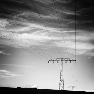 Power Lines at Märkische Schweiz by Michael Jones