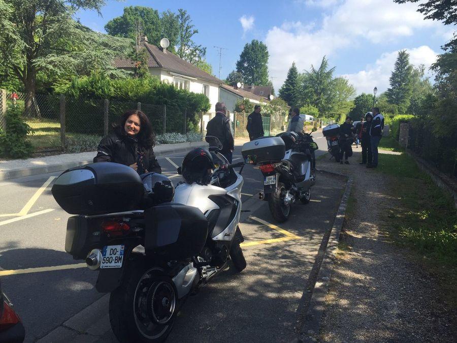 BMW Motorrad event. My nice wife in biker's dress!