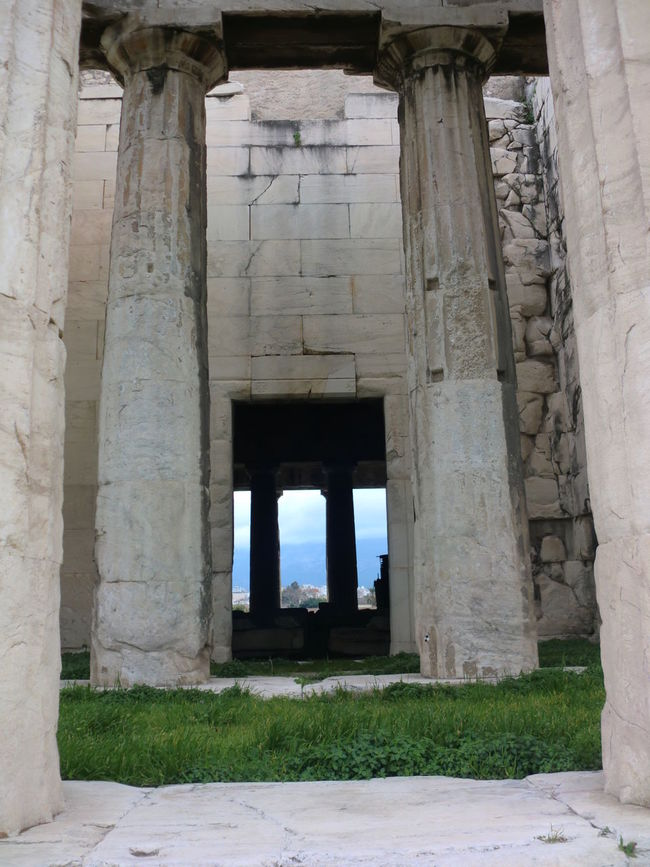 Ancient Ancient Civilization Arch Architectural Column Architecture Bad Condition Building Exterior Built Structure Column Famous Place Historic History Low Angle View Old Old Ruin Religion Ruined The Past Travel Destinations Through Straight Direct View Hole Postcard