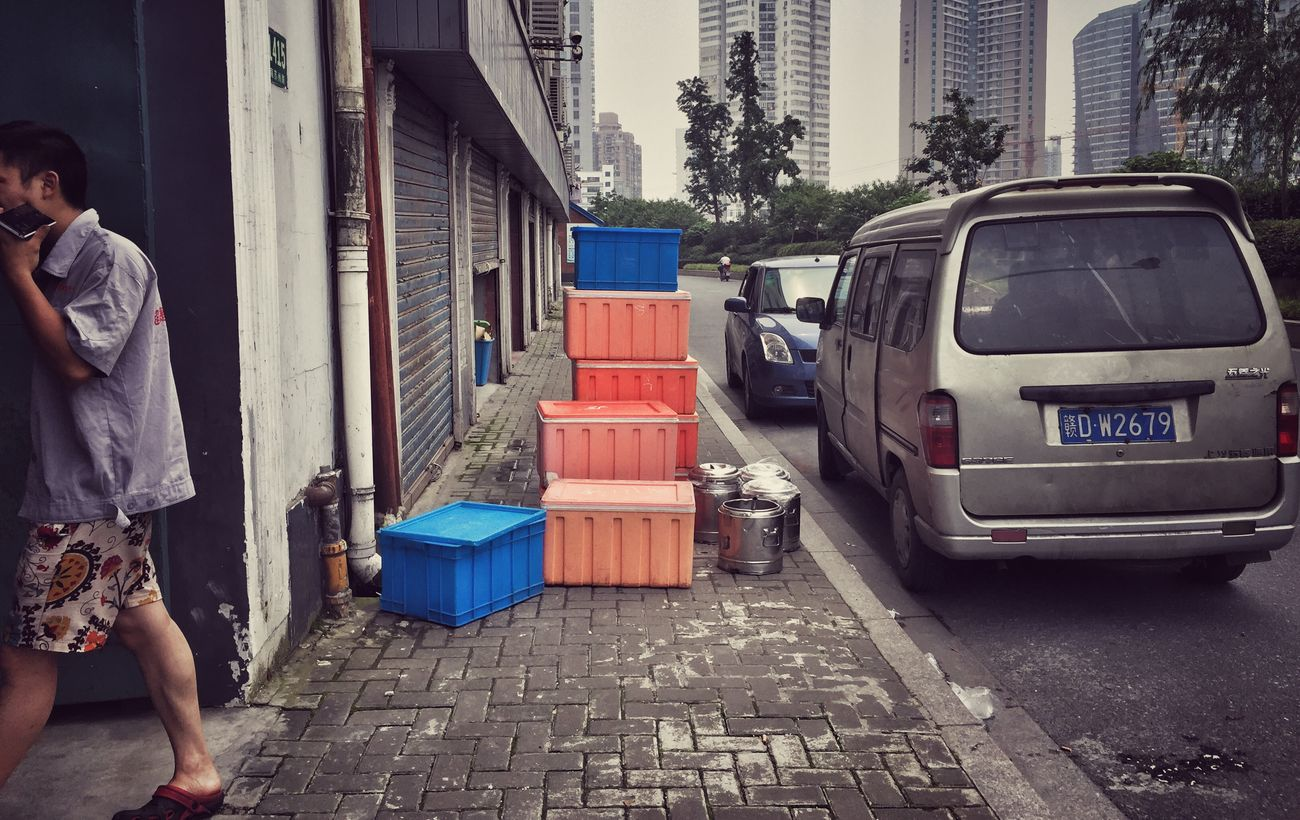 Shanghai Streets Old Buildings