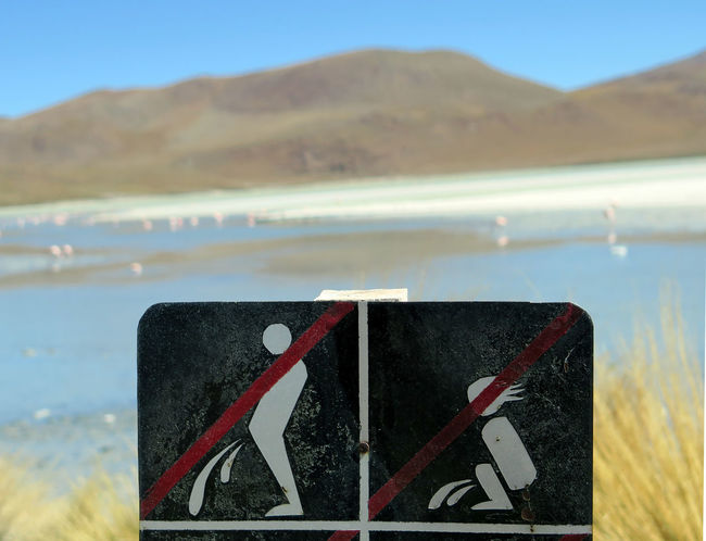 found this sign during my tour around the uyuni saltflat Background Blue Sky Close-up Day Focus Object Focus On Foreground Funny No People Outdoors Saltflat Sign Signboard Signs Sunny Travel Travel Photography Travelgram Traveling Uyuni