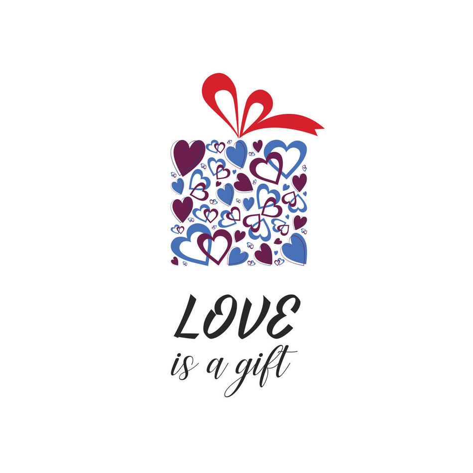 Love Illustration Gift Gift Box Valentine's Day  Valentine Love Is A Gift Love Is In The Air Love Concept Quote Quote Of The Day  Inspirational Quote Heart Heart Shape Affection Gift Boxes