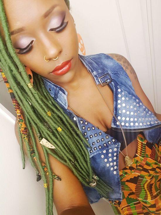 The Week On EyeEm Fauxlocs Faux  Greenhair Young Women Funhair Kentelocs Kenteskirt African