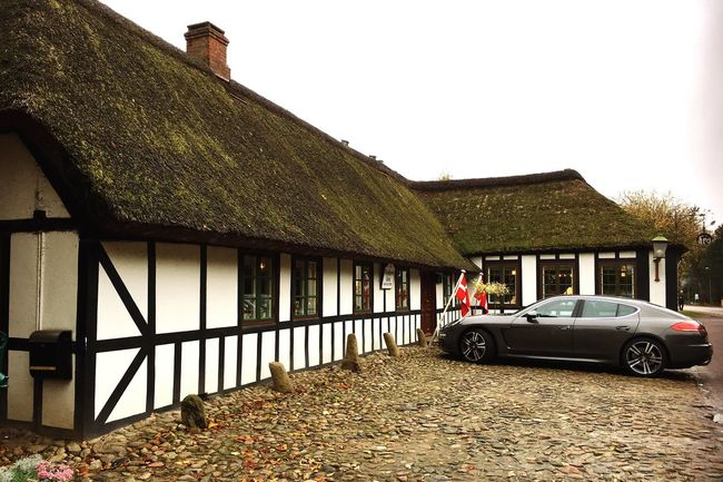 Denmark 🇩🇰🇩🇰🇩🇰 Danish Inn Porche Old House On The Road Old Historical Building Architecture Built Structure Building Exterior House Transportation Beauty In Nature Nature Fine Art Fine Art Photography Residential Structure Clear Sky Mode Of Transport Parked Stationary Day Rural Scene No People